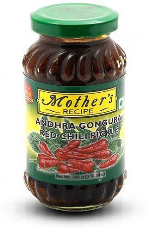 Mother Gongura Red Chili Pickle 300 G