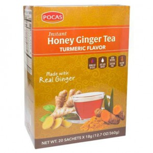 Pocas Instant Honey Ginger Tea Mint Flavor 18Gm